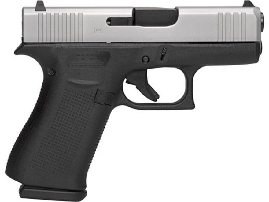 "Glock 43X Pistol 9mm Luger 3.41"" Barrel 10-Round Stainless Polymer Black"