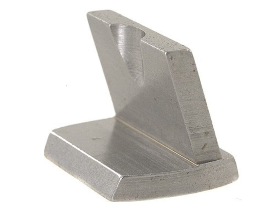 NECG Dovetail Fixed Blade Rear Sight Slanted Forward Steel in the White
