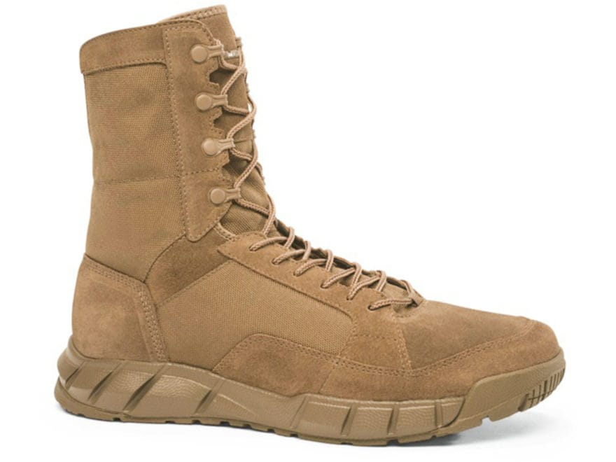 """Oakley Light 8"""" Tactical Boots Leather and Synthetic Coyote Men's 10.5 D"""