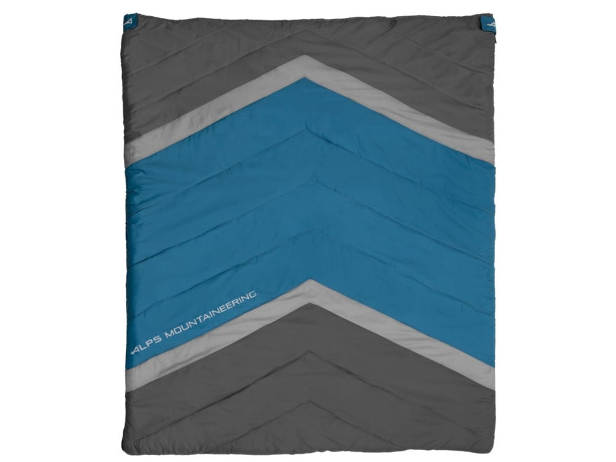 ALPS Mountaineering Spectrum 20 Degree Sleeping Bag Polyester Deep Sea/Coal