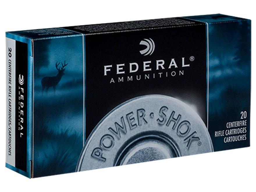 Federal Power-Shok Ammunition 300 Winchester Magnum 150 Grain Jacketed Soft Point Box o...