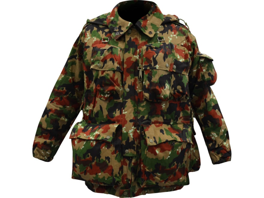 9abac186f683b Military Surplus Swiss M70 Field Jacket Grade 2 Alpenflage Camo L