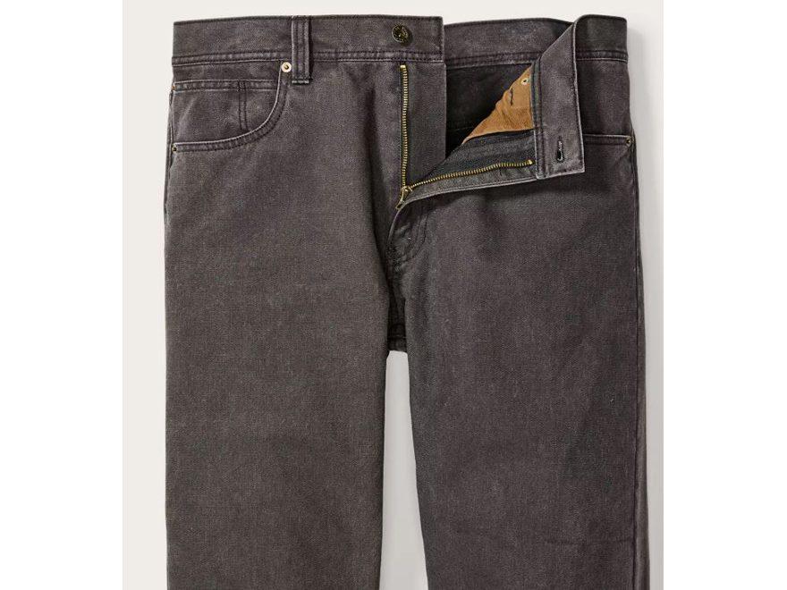 99404d3b3bfff Filson Men's Dry Tin 5-Pocket Pants Cotton Whiskey 40 Waist Unhemmed