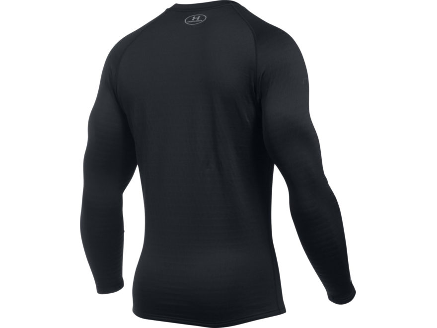 9e08fe1f7bd8f6 Under Armour Men's UA Base 4.0 Crew Base Layer Shirt Long Sleeve Polyester  Black. Alternate Image; Alternate Image