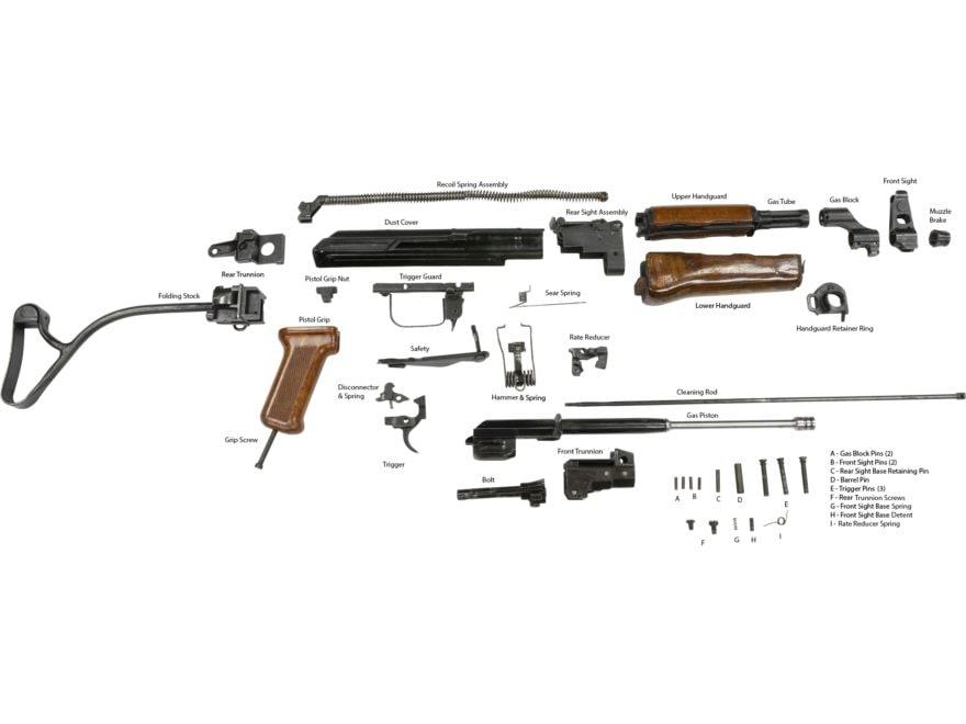 Military Surplus AK-47 Romanian PM Model 90 Side Folding Parts Kit on