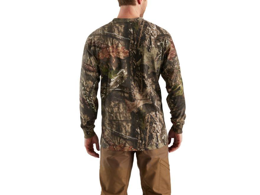 c8f58ab7 Carhartt Men's Workwear Graphic Camo T-Shirt Long Sleeve Cotton Mossy