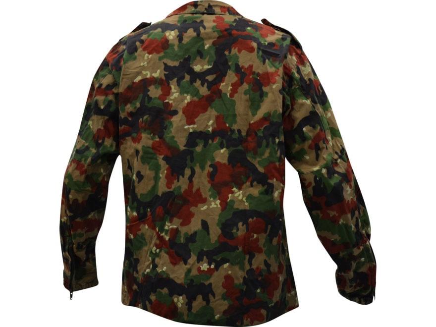 2a1e047e0fdd Military Surplus Swiss M83 Field Jacket Grade 1 Alpenflage Camo Large