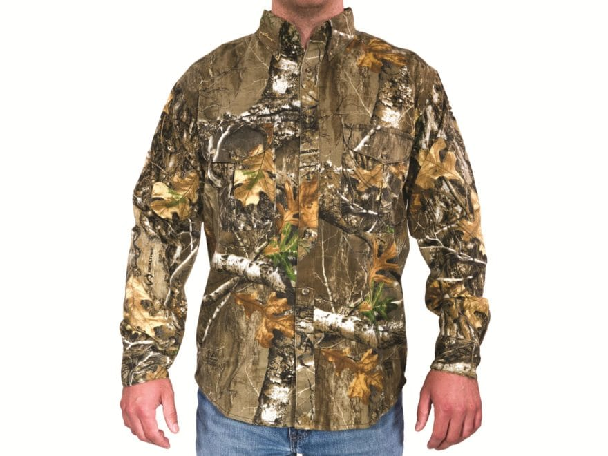 e47e118b0de06 MidwayUSA Men's All Purpose Long Sleeve Field Shirt Realtree Max-1 XT