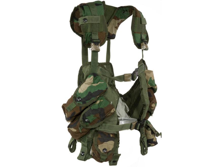 180b9fca8b5 Military Surplus ALICE Load Bearing Vest (LBV) Grade 2 Nylon Woodland
