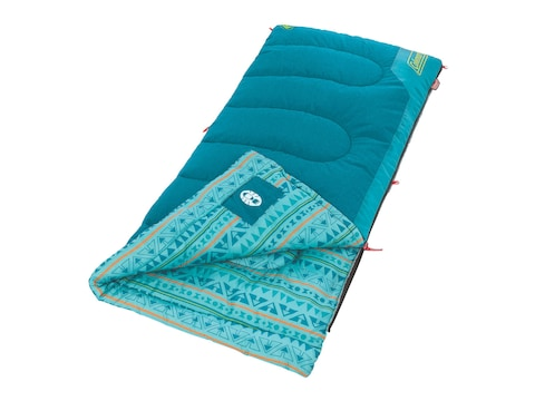 Coleman Youth 50 Degree Sleeping Bag Polyester Teal