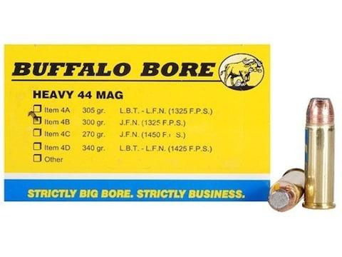 Buffalo Bore Ammunition 44 Remington Magnum 300 Grain Jacketed Flat Nose