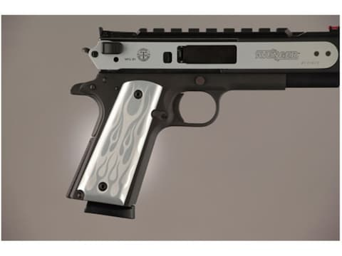 Hogue Extreme Series Grips 1911 Government, Commander Ambidextrous Safety  Cut Flames Aluminum