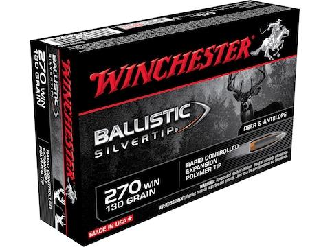 Winchester Ballistic Ammunition 270 Winchester 130 Grain Ballistic  Silvertip Rapid Controlled Expansion Polymer Tip