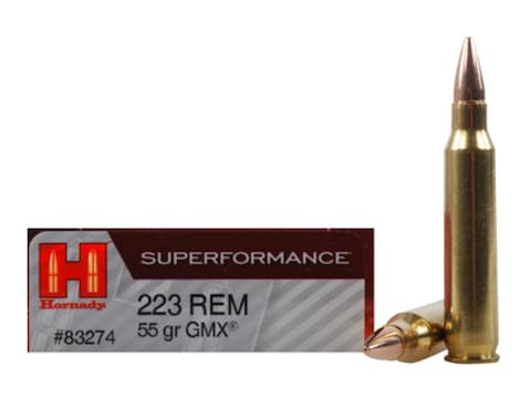 Hornady Superformance GMX Ammunition 223 Remington 55 Grain GMX Hollow  Point Lead-Free Box of 20