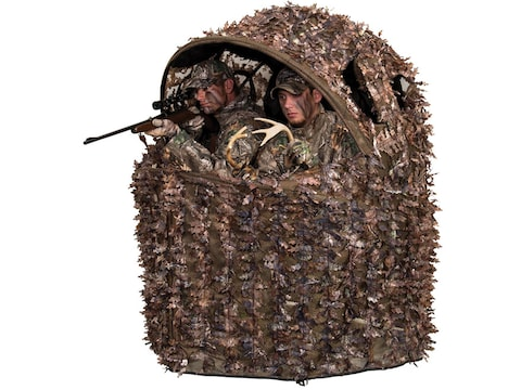 Cool Ameristep Deluxe 3D Leafy 2 Man Chair Ground Blind Realtree Xtra Camo Inzonedesignstudio Interior Chair Design Inzonedesignstudiocom