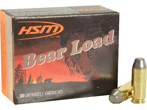 HSM Bear Ammunition 10mm Auto 200 Grain Lead Round Nose Flat Point Box of 20