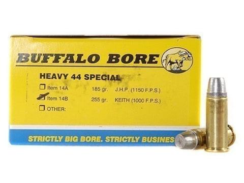 Buffalo Bore Ammunition 44 Special 255 Grain Lead Keith-Type Semi-Wadcutter  Gas Check