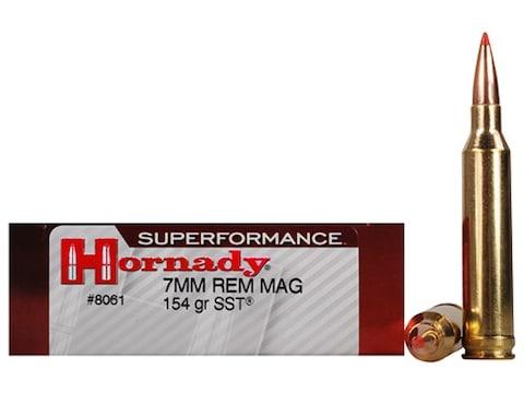 Hornady Superformance SST Ammunition 7mm Remington Magnum 154 Grain SST Box  of 20