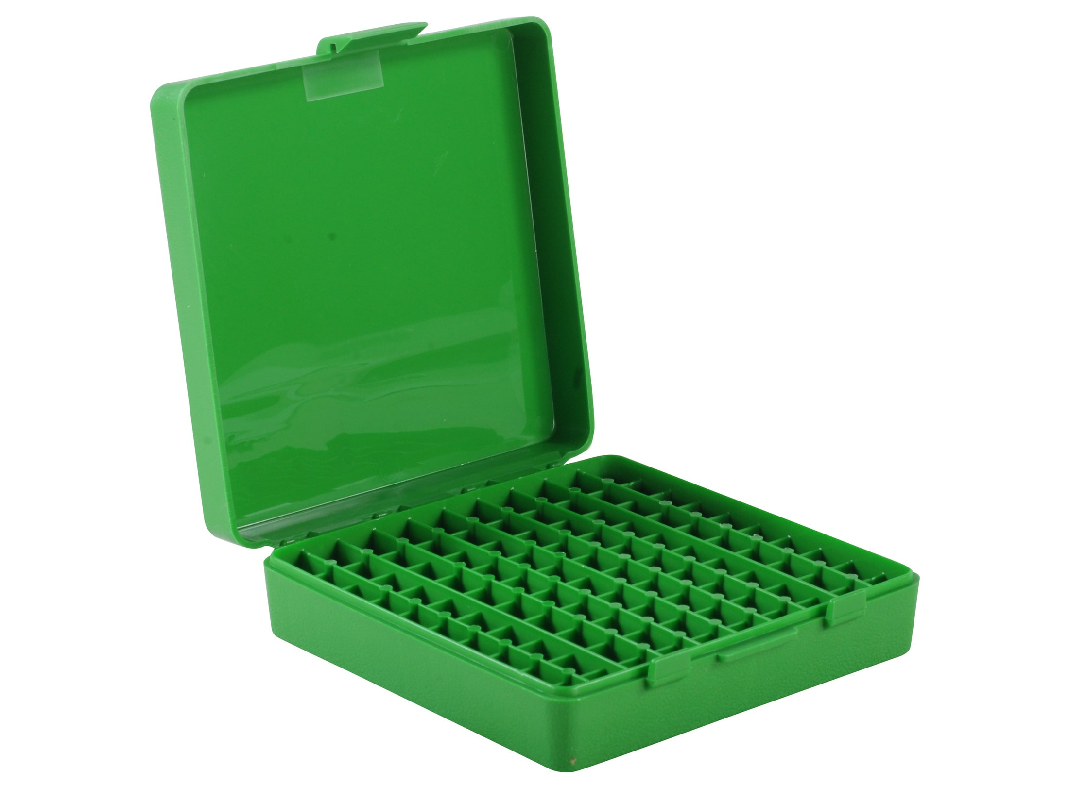 FREE SHIPPING MTM PLASTIC AMMO BOXES 5 CLEAR GREEN 50 Round 9mm // 380