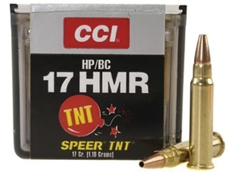 CCI Ammunition 17 Hornady Magnum Rimfire (HMR) 17 Grain Speer TNT Jacketed  Hollow Point