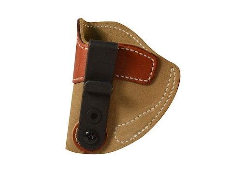 DeSantis SOF-TUCK Inside The Waistband Holster Left Hand Kimber Solo, Micro  9, Sig Sauer P938 Leather Brown