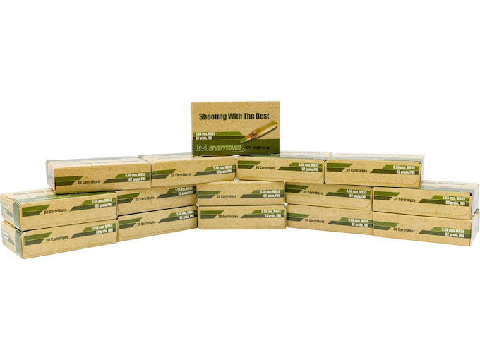 IMI Ammunition 5 56x45mm NATO 62 Grain M855 SS109 Penetrator Full Metal  Jacket Boat Tail Box of 450 (15 Boxes of 30)