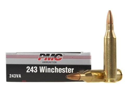 PMC Silver Ammunition 243 Winchester 85 Grain Sierra GameKing Hollow Point  Boat Tail Case of 500 (25 Boxes of 20)