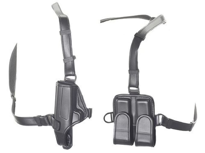 Bianchi 7700 LeatherLite Shoulder Holster System Right Hand Colt Mustang,  Walther PP, PPK, PPK/S Synthetic Leather Black