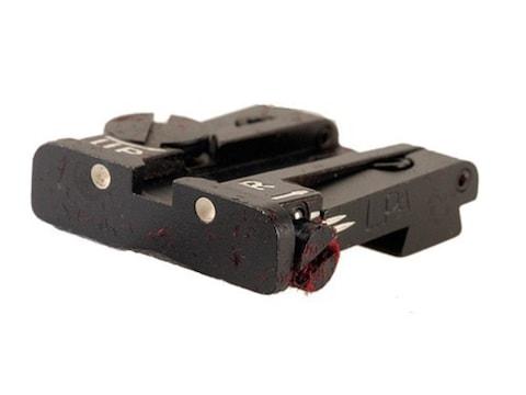 LPA TPU Rear Sight Beretta 92, 96, 98, M9, Brigadier Steel Blue 3-Dot