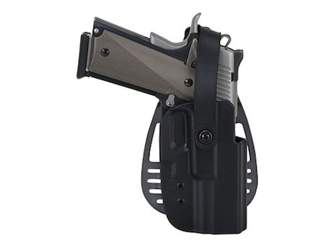 Uncle Mike's Paddle Holster with Thumb Break Right Hand Glock 20, 21, S&W  M&P Kydex Black