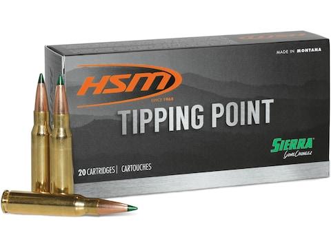 HSM Tipping Point Ammunition 243 Winchester 90 Grain Sierra GameChanger  Tipped GameKing Box of 20