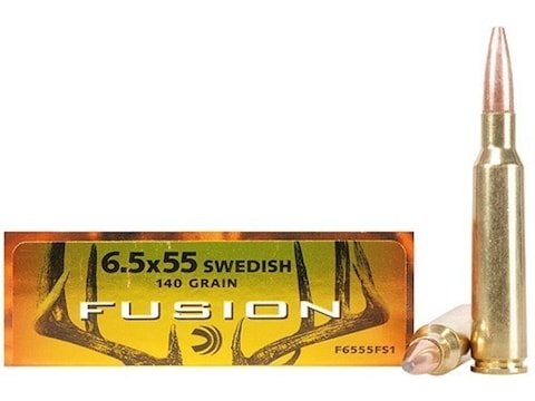 Federal Fusion Ammunition 6 5x55mm Swedish Mauser 140 Grain Spitzer Boat  Tail Box of 20