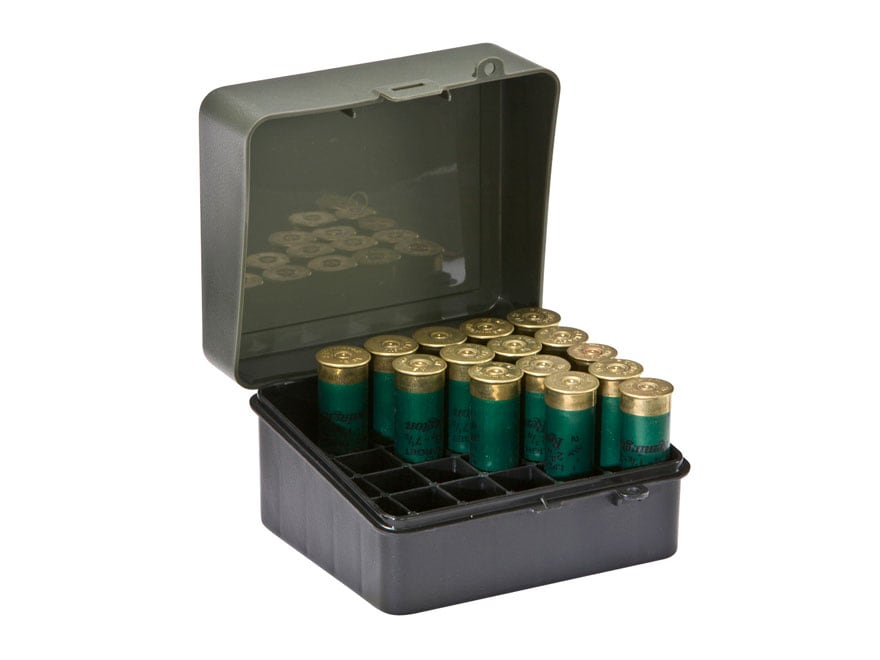 Hunting 5 pack of 25 shot-shell 12 gauge/16 gauge plastic ammo boxes Black/Green Range & Shooting Accessories