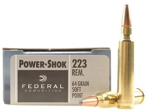 Federal Power-Shok Ammunition 223 Remington 64 Grain Soft Point Box of 20
