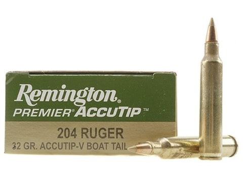 Remington Premier Varmint Ammunition 204 Ruger 32 Grain AccuTip-V Boat Tail  Box of 20