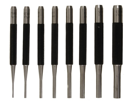 "3//16 1//16/"" 3//32/"" 1//8/"" S565Wb 8 Pieces Starrett Drive Pin Punch Set 5//32/"""