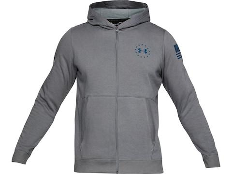 bab7451bce Under Armour Men's UA Freedom Threadborne Fleece Full-Zip Hoodie Polyester