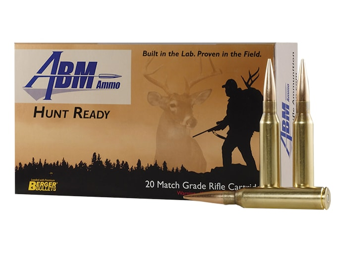 ABM Hunt Ready Ammunition 338 Lapua Magnum 300 Grain Berger Match Elite  Hunter Box of 20
