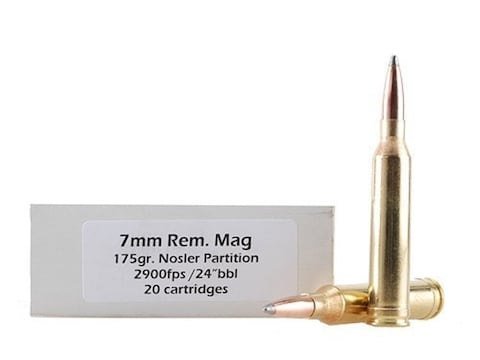 DoubleTap Ammunition 7mm Remington Magnum 175 Grain Nosler Partition Box of  20
