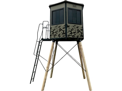 Hawk Watchtower Elevated Box Blind Polyethylene and Steel Camo