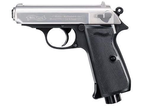 Walther PPK/S Air Pistol 177 Caliber BB Nickel Slide