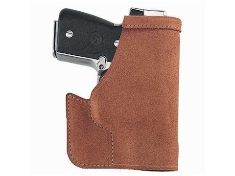 Galco Pocket Protector Holster Ambidextrous Ruger LCP with Crimson Trace  Laserguard Leather Brown