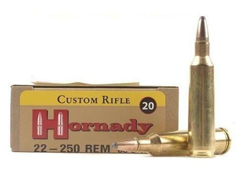 Hornady Custom Ammunition 22-250 Remington 60 Grain InterLock Spire Point  Box of 20