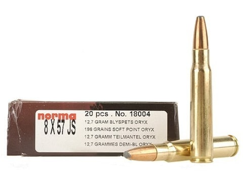 Norma Ammunition 8x57mm JS Mauser (323 Diameter) 196 Grain Oryx Protected  Point Box of 20