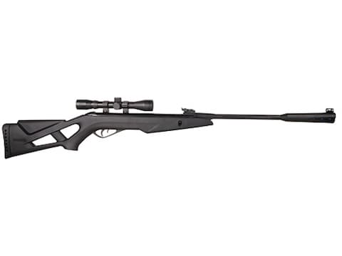 Gamo Whisper Silent Cat Break Barrel Air Rifle 177 Caliber Pellet Black  Synthetic Stock Blue Barrel with Gamo Airgun Scope 4x 32mm Matte