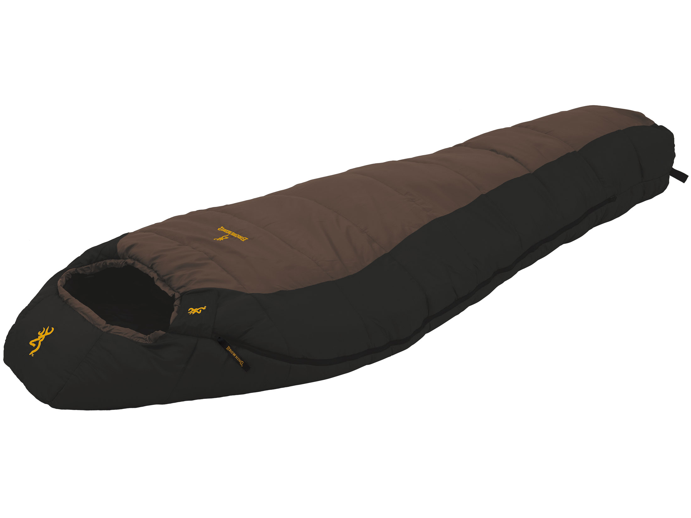 Browning Endeavor 20 Degree Mummy Sleeping Bag Polyester Black And Tan