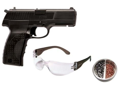 Crosman 1088 CO2 Air Pistol Kit 177 Caliber BB and Pellet Polymer Stock  Black
