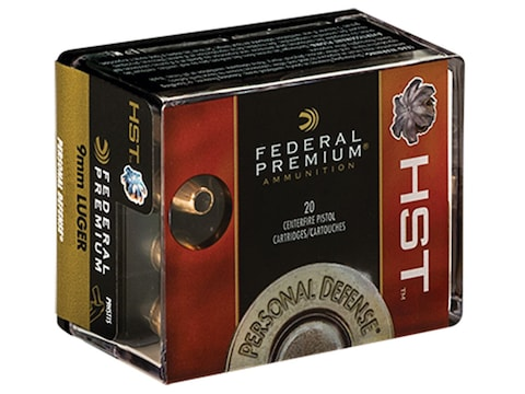 Federal Premium Personal Defense Ammunition 9mm Luger 147 Grain HST  Jacketed Hollow Point