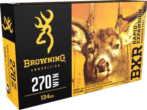 Browning BXR Rapid Expansion Ammunition 270 Winchester 134 Grain Matrix Tip