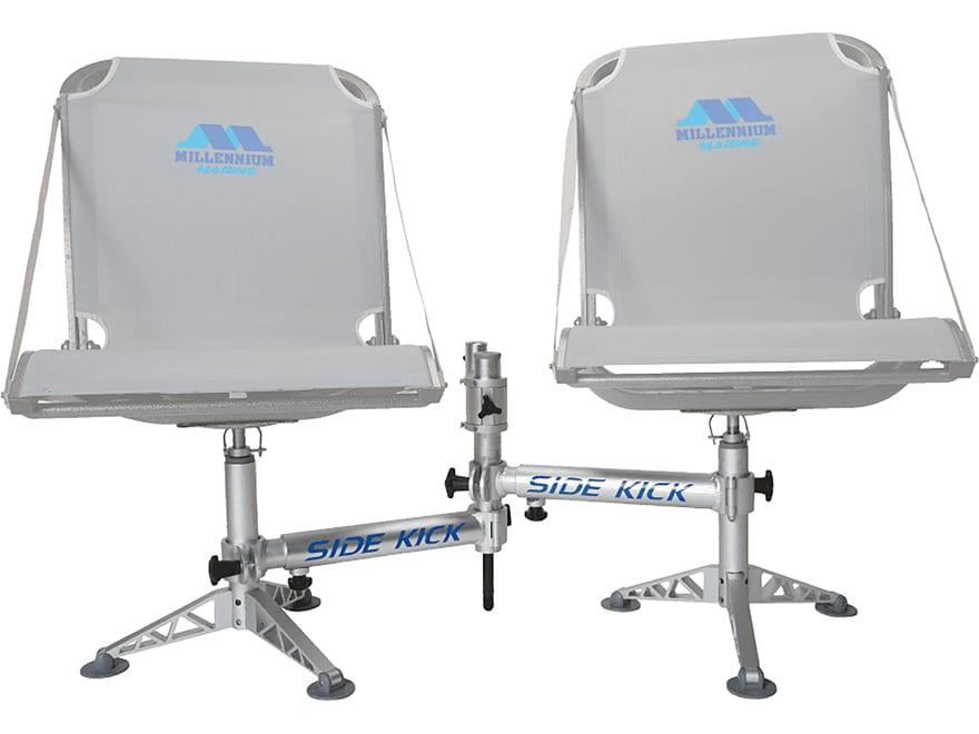 MILLENNIUM SIDEKICK Adjustable Single Post Double Seat Pedestal